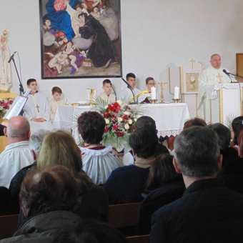 Mass celebration for the elderly and the poor